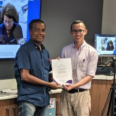 Rockhampton Y4 Senior Teaching Award  Dr Karthikeyan Manugandhi and student E-Hong Seah